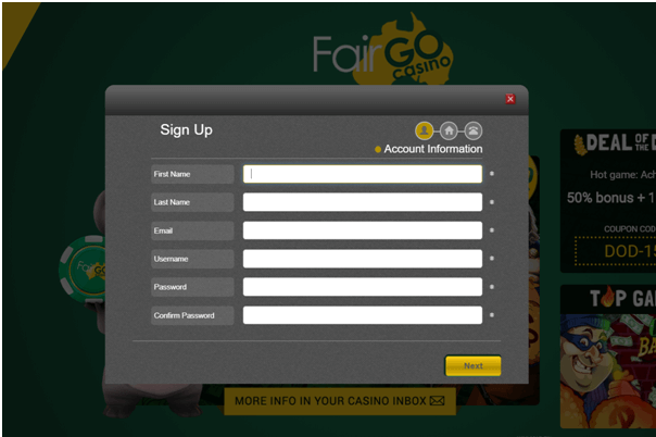 Fair Go Casino SignUp