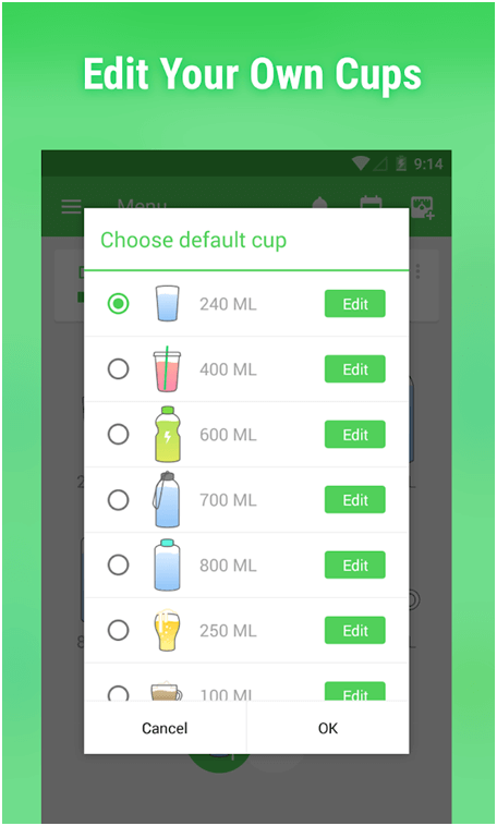 Leap Fitness water reminder app