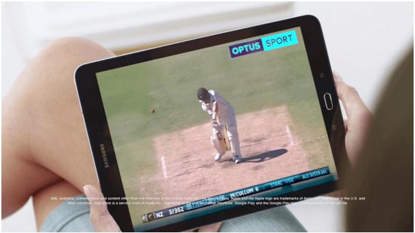 Optus Sport App on iPad