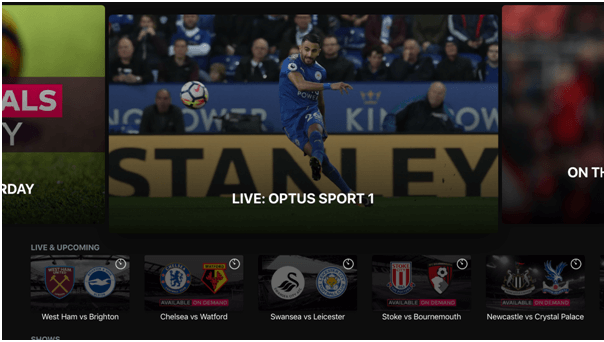 Optus Sport App
