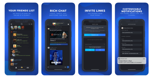 Steam Chat App Features
